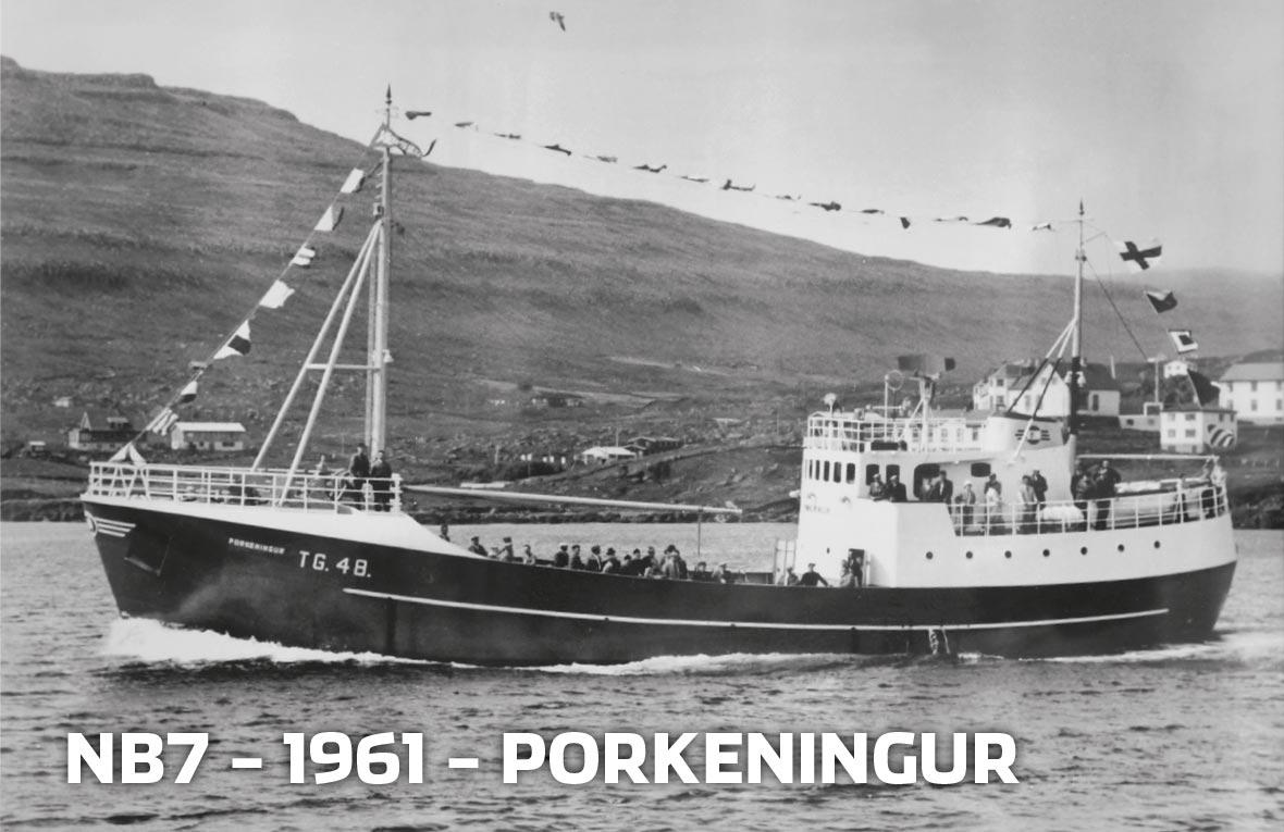 Tórshavnar Skipasmiðja - NB7 - 1961 - Porkeningur